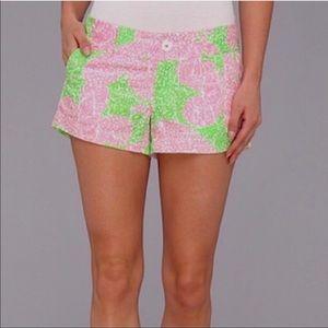 "Lilly Pulitzer Walsh ""Limeade Cheat Ya"" Shorts"